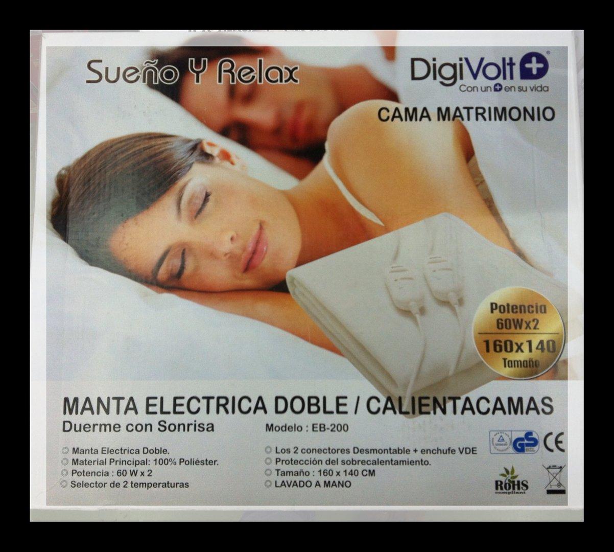 Manta eléctrica Digivolt de cama de matrimonio   ARAFA ARTICULOS