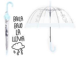 niño fecha de lanzamiento último diseño Paraguas transparente Baila Bajo Lluvia 83cm 6 unid. - ARAFA ...